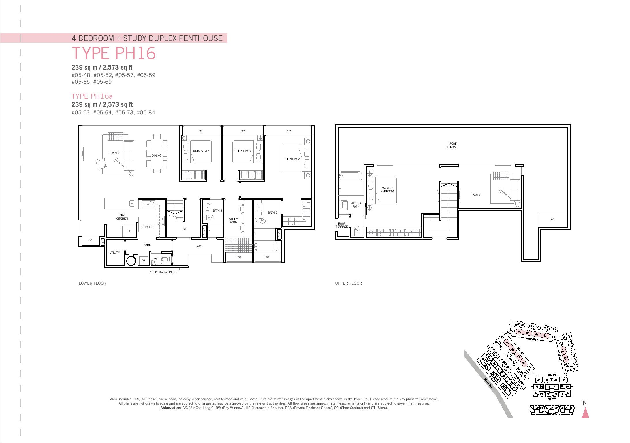 Penthouse 4 bed study duplex flamingo valley for Study bed plans